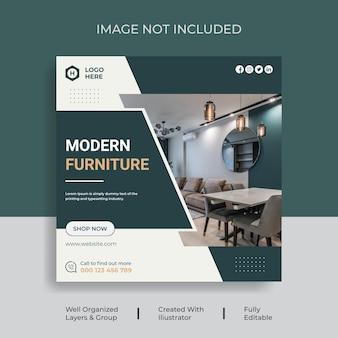 Modèles de conception de publication sur les médias sociaux pour la vente de meubles