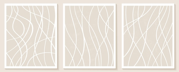 Modèles contemporains esthétiques avec des formes abstraites et des lignes aux couleurs nude