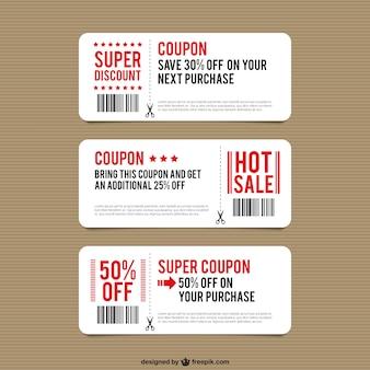 Modèles de coupon