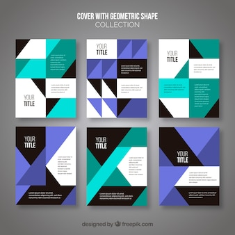 Modèles de couverture abstraite avec un design géométrique