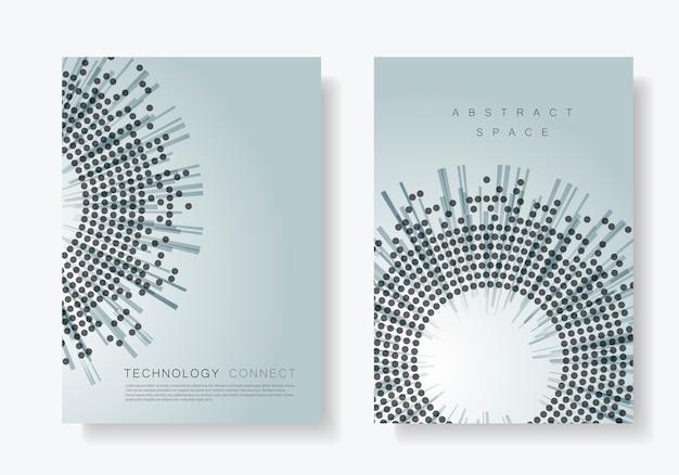 Modèles de couverture de brochure avec cercle