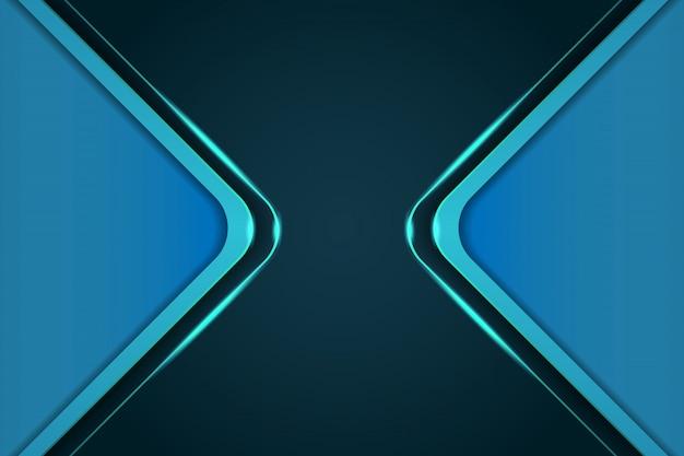 Modèles de couverture de fond bleu moderne 3d