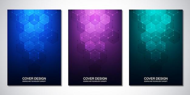 Modèles de couverture avec motif hexagone