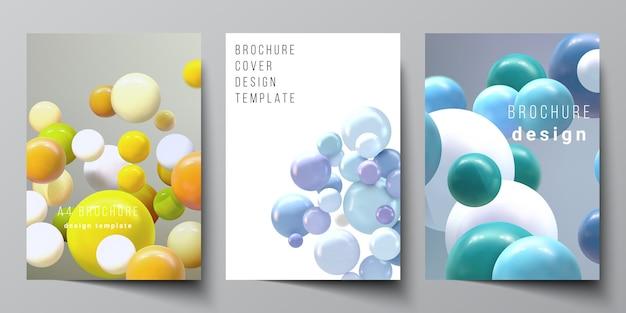 Modèles de couverture pour brochure, mise en page de flyer, livret, couverture, livre