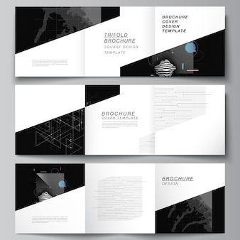Modèles de couvertures carrées pour brochure à trois volets