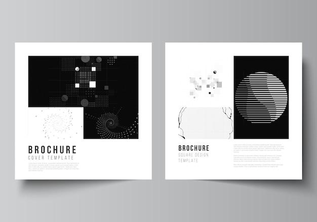 Modèles de couvertures carrées pour la conception de livres