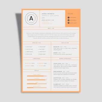 Modèles de curriculum vitae minimalistes