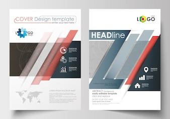 Modèles d'affaires pour brochure, magazine, flyer.