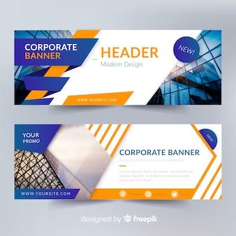 Modèles de bannière abstraits avec photo