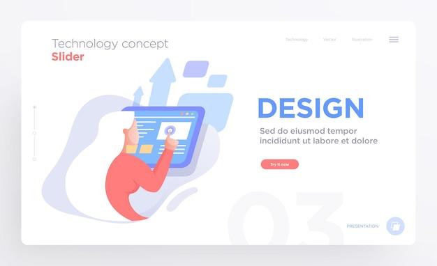 Modèles de diapositives de présentation ou images de bannière de héros pour sites web ou applications