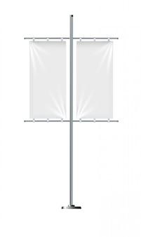 Modèles de drapeau bannière, ensemble de drapeaux publicitaires de vecteur.