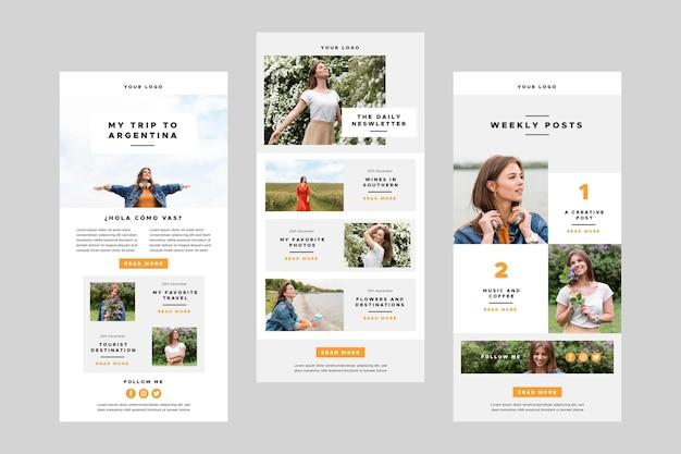 Modèles d'e-mails blogger avec photo