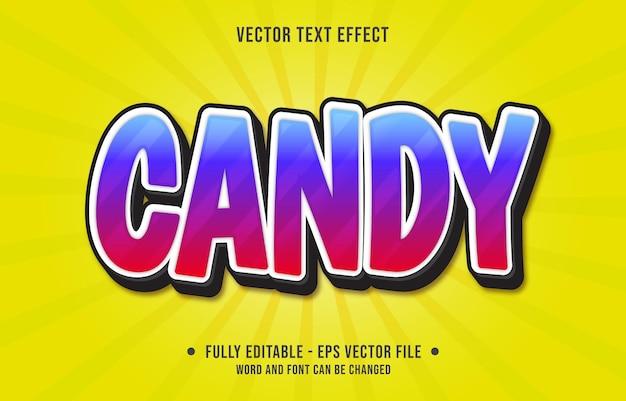 Modèles d'effets de texte modifiables style moderne de couleur dégradé bleu rouge bonbon