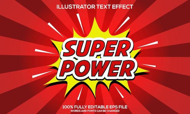 Modèles d'effets de texte super power
