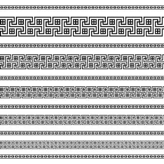 Modèles d'éléments de décoration de frontière