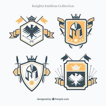Modèles d'emblème de chevalier