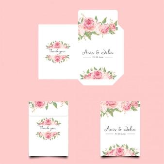 Modèles d'enveloppe d'invitation de mariage