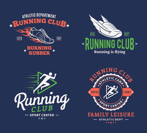 Modèles d'étiquettes de club de course