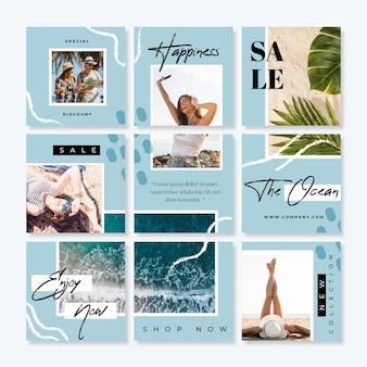 Modèles de flux de puzzle instagram de vente