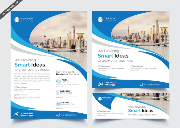 Modèles De Flyer Et Bannière D'affaires Vecteur Premium
