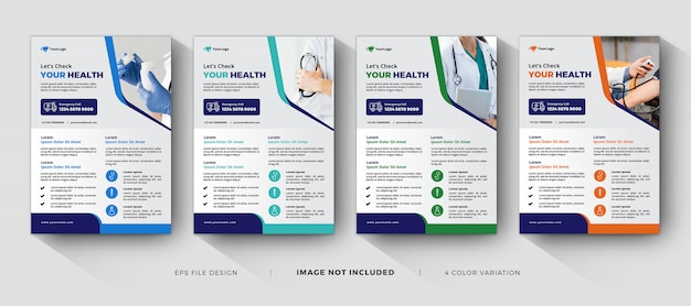 Modèles de flyers corporatifs médicaux