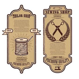 Modèles de flyers de magasin de tailleur vintage