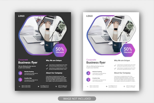 Modèles de flyers de promotion d'entreprise modernes et créatifs