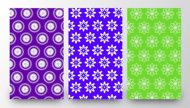 Modèles de fond abstrait motif floral