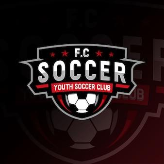 Modèles de football e-sport logo