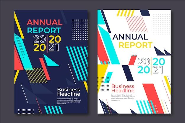 Modèles de formes géométriques de rapport annuel