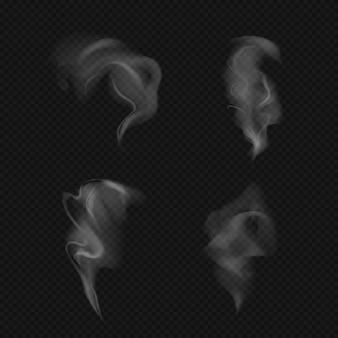 Modèles de fumée réaliste, couple sur fond sombre.
