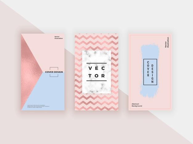 Modèles géométriques de mode pour les histoires instagram