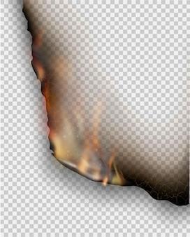 Modèles de gravure de conception transparente papier déchiré avec le feu