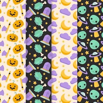 Modèles d'halloween design plat