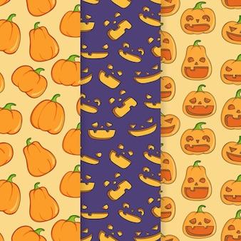 Modèles d'halloween dessinés à la main