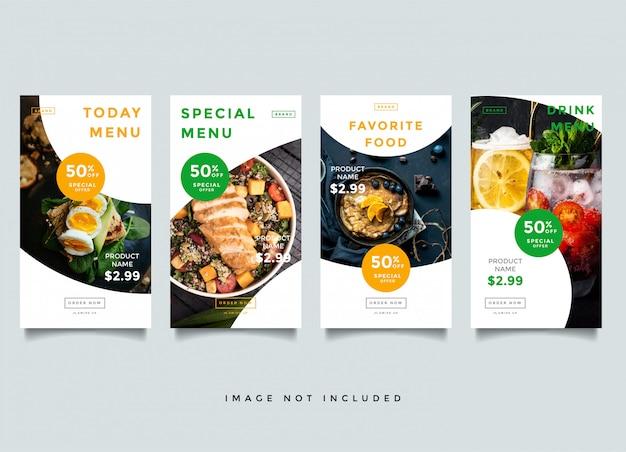 Modèles d'histoires instagram culinaires et culinaires