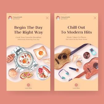 Modèles d'histoires instagram pour la vie quotidienne