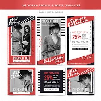 Modèles d'histoires et de messages instagram