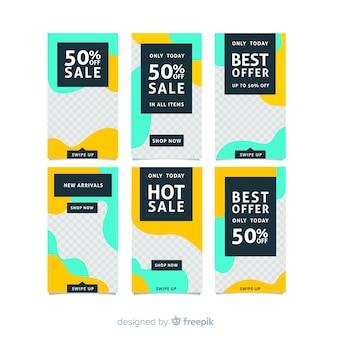 Modèles d'histoires de vente instagram