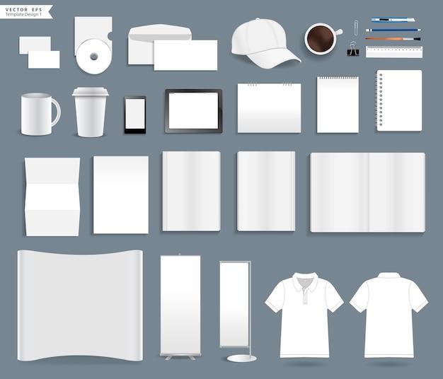 Modèles d'identité d'entreprise vector