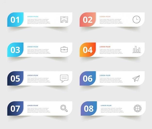 Modèles d'infographie d'affaires modernes