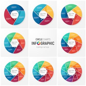 Modèles d'infographie de graphique vectoriel pour la visualisation des données