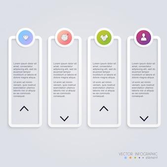 Modèles d'infographie pour les entreprises. vecteur statistique d'infographie.