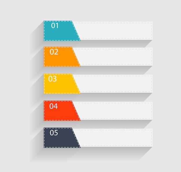 Modèles d'infographie pour l'illustration de l'entreprise