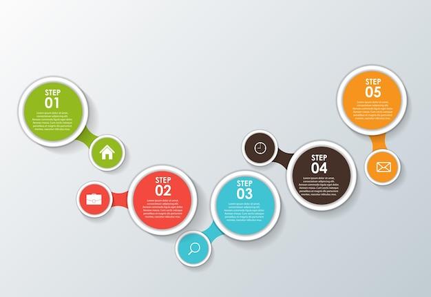Modèles D'infographie Pour L'illustration Vectorielle D'affaires. Eps10 Vecteur Premium