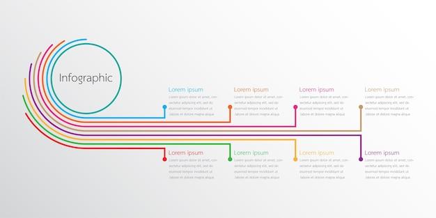 Modèles d'infographie de vecteur utilisés pour les rapports détaillés