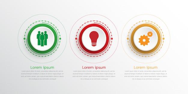 Modèles d'infographie vectorielle utilisés pour des rapports détaillés