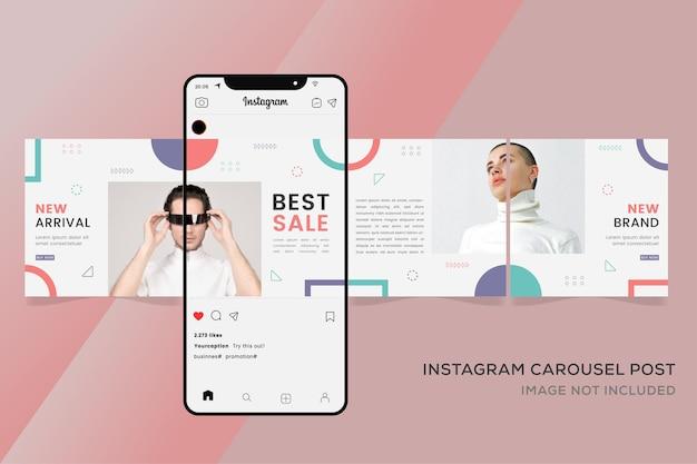 Modèles instagram carrousel instagram pour la vente de mode