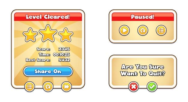 Modèles d'interface utilisateur de jeu