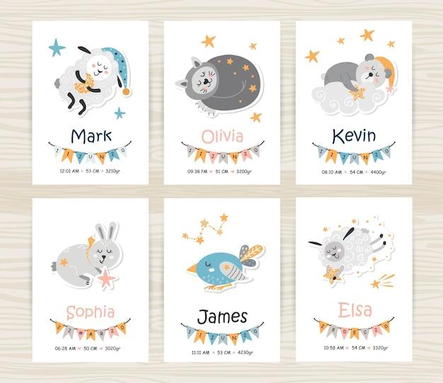 Modèles d'invitation de douche de bébé avec des animaux